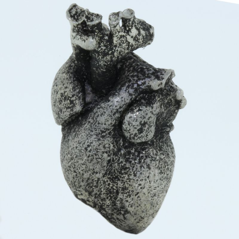 Heart Bead in Pewter by Marco Magallona