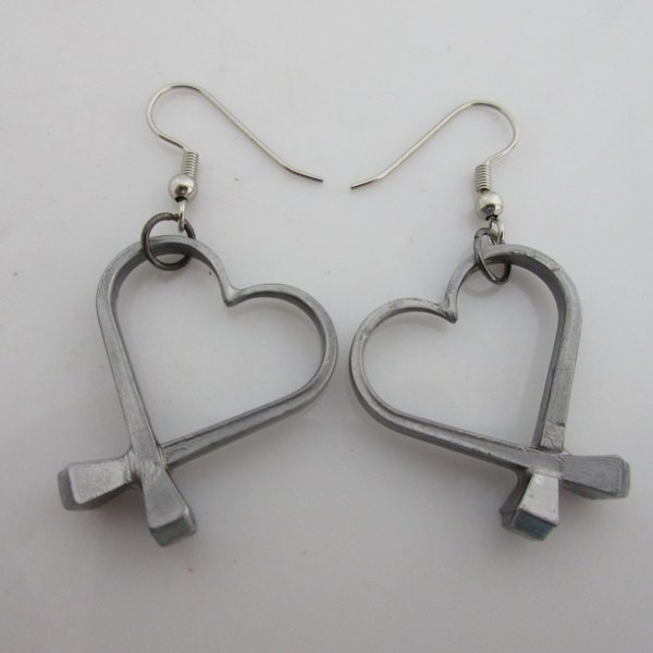 Horseshoe Nail Heart Earrings By Mr Willie Hess
