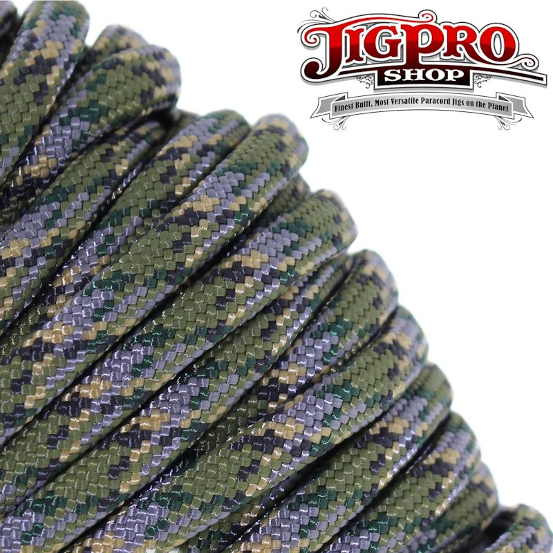 Jager Camo 550# Type III Paracord 100' C21