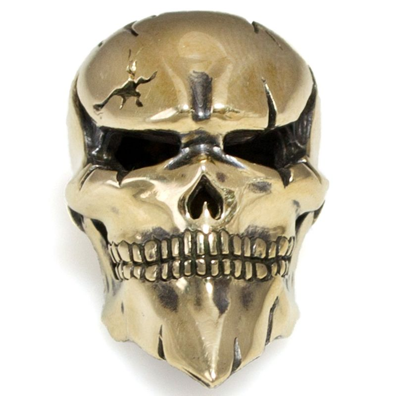 Joker Skull in Brass By Castings Pride
