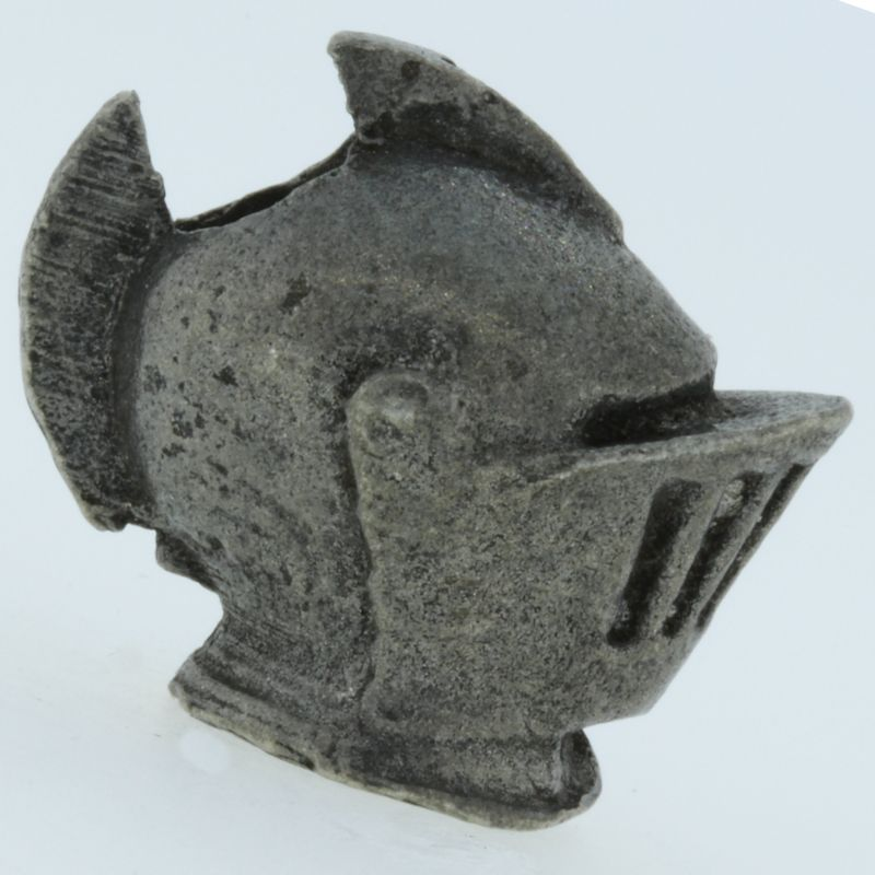 Joust Helmet Bead in Pewter by Marco Magallona