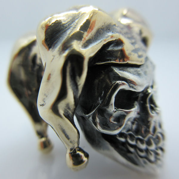 Jester in .925 Sterling Silver and Bronze by GD Skulls