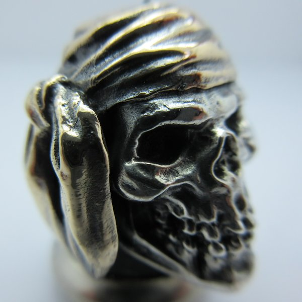 Pirate in .925 Sterling Silver and Bronze by GD Skulls