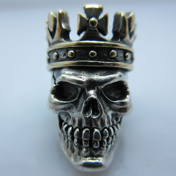 King in .925 Sterling Silver and Bronze by GD Skulls