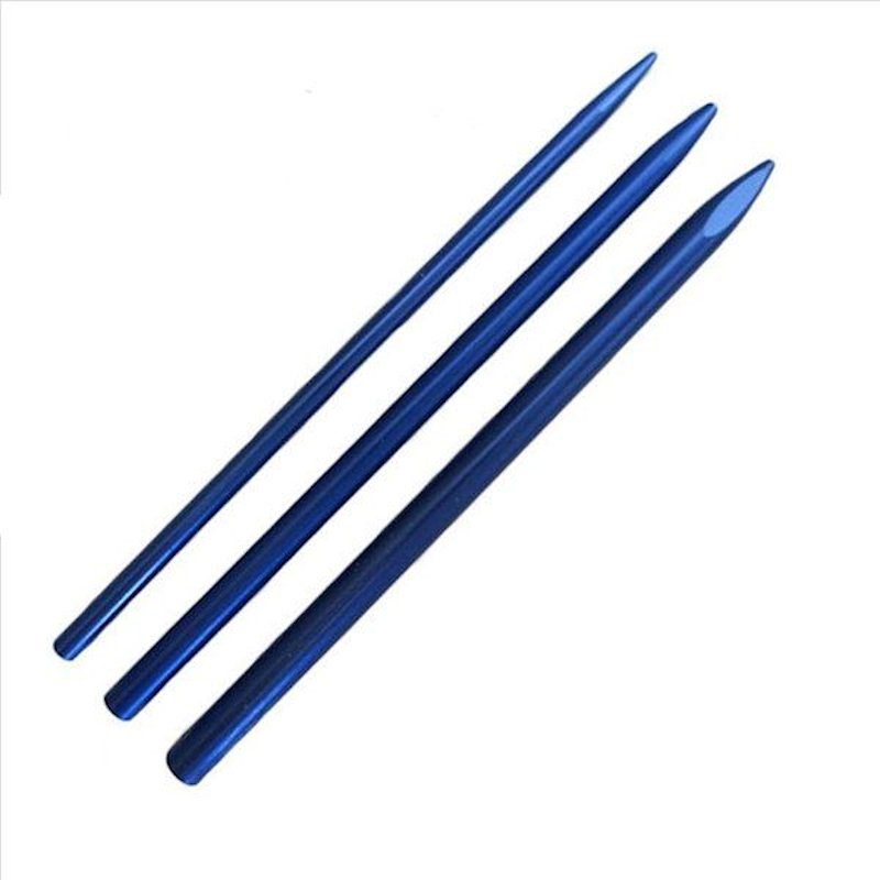 Knotters Tool II (Stainless Steel) w/ 3 Different Size Blue Lacing Needles