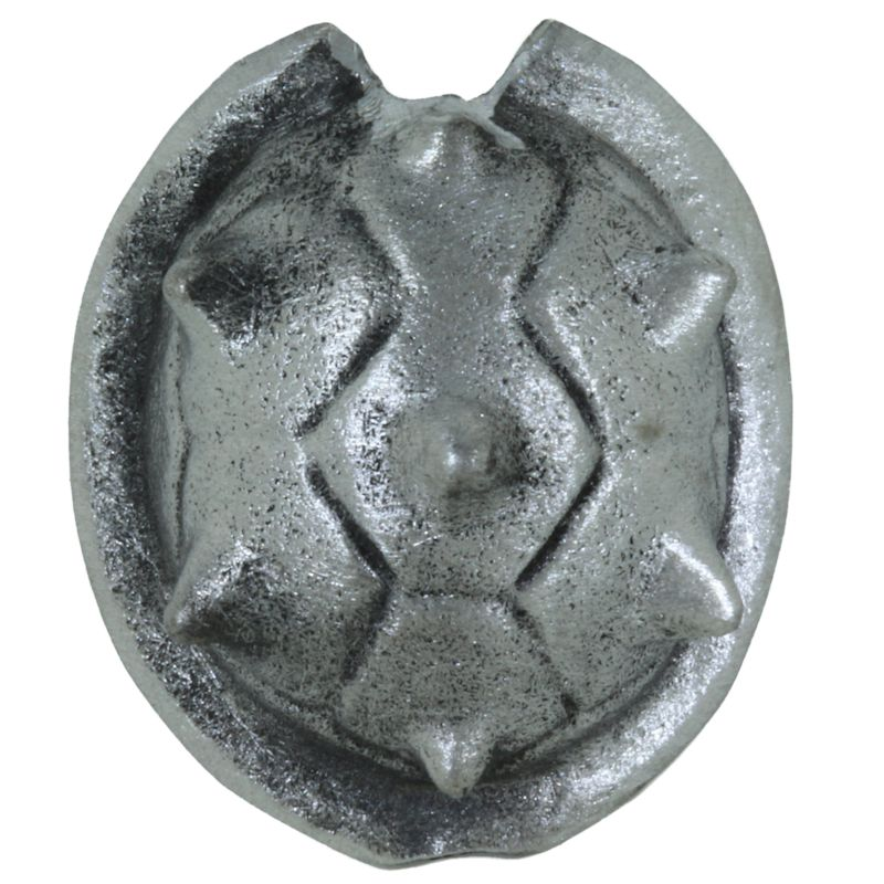 Koopa Turtle Shell Bead in Pewter by Marco Magallona