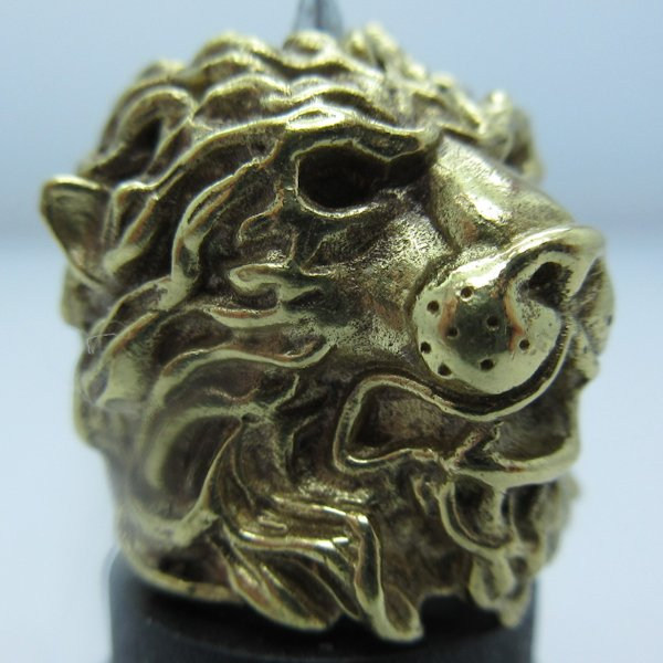 Majestic Lion in Brass by Covenant Everyday Gear