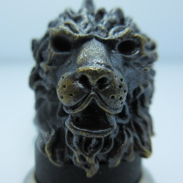 Majestic Lion in Brass With Black Patina by Covenant Everyday Gear
