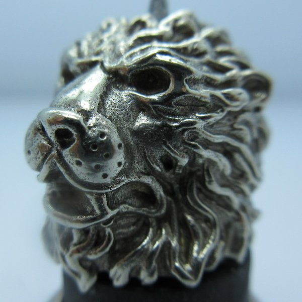 Majestic Lion in White Brass by Covenant Everyday Gear
