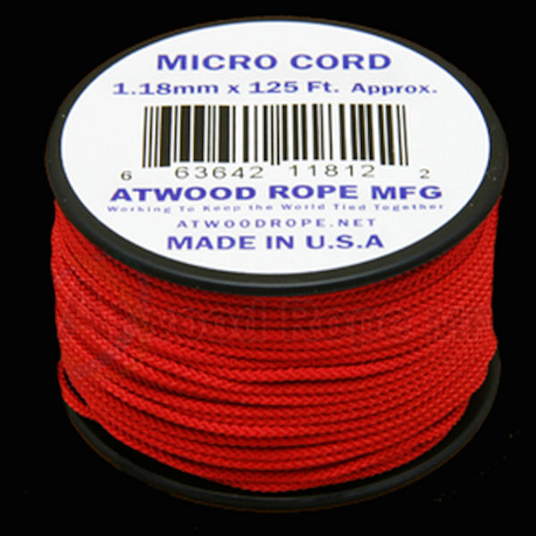 Micro Cord Red 1.18mm x 125' MS03
