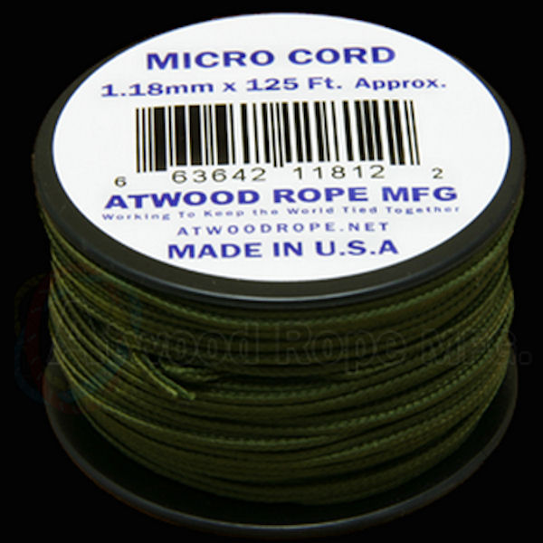 Micro Cord Olive Drab 1.18mm x 125' MS14