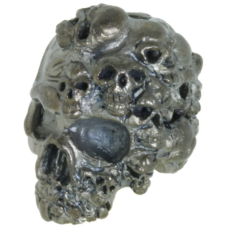 Mind Skull Bead in Hematite Matte Finish by Schmuckatelli Co.