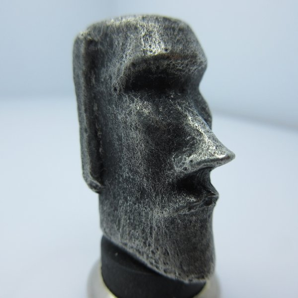 Moai (Easter Island) Bead in Pewter by Marco Magallona