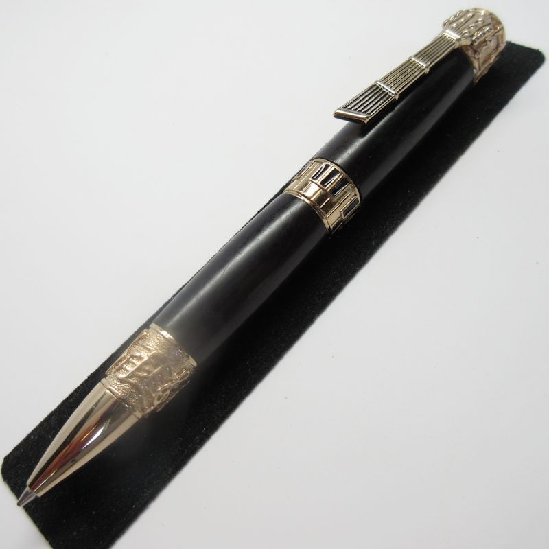 Music Twist Pen in (Ebony) 24K Gold