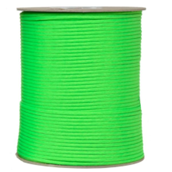 550 Neon Green Type III Paracord 1000' Spool SS18