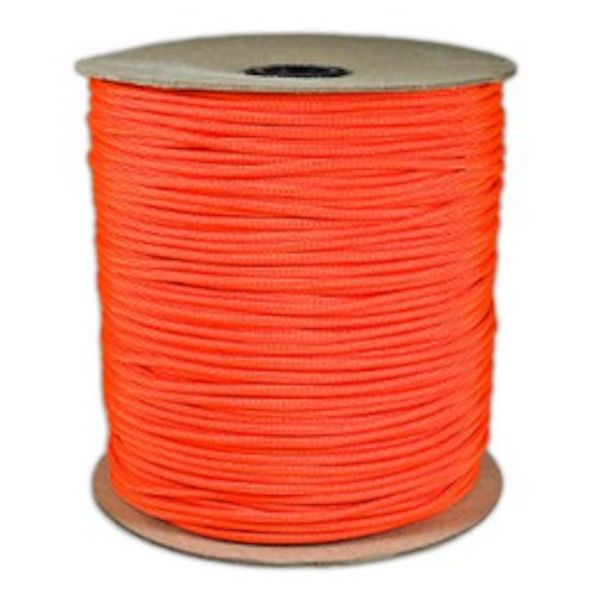 Neon Orange 550# Type III Paracord 1000' Spool SS17