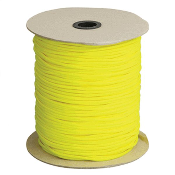 Neon Yellow 550# Type III Paracord 1000' Spool SS19