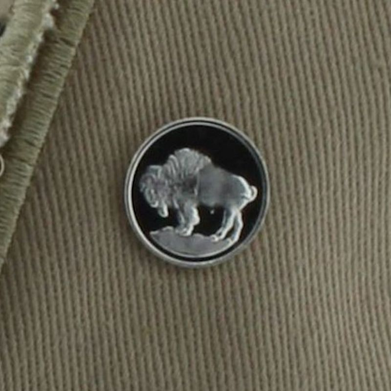 Buffalo Nickel (Buffalo) Design .999 Pure Silver 1 Gram Pin By Barter Wear