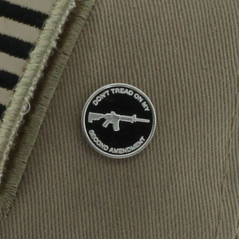 Second Amendment (AR-15) .999 Pure Silver 1 Gram Pin By Barter Wear