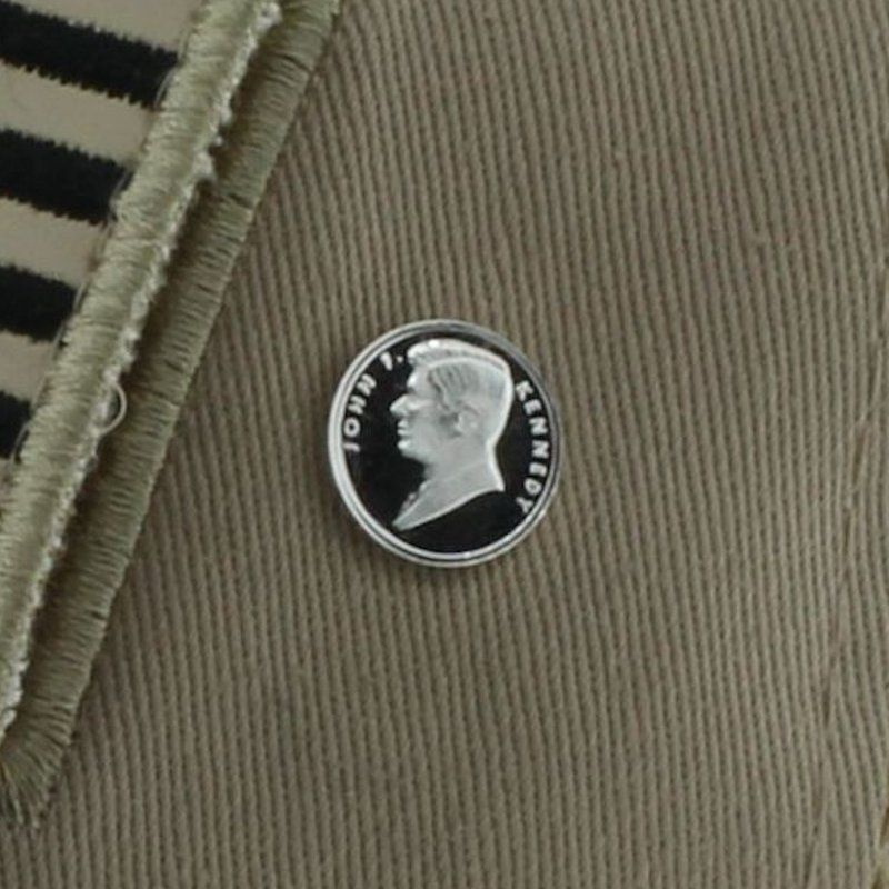 John F. Kennedy .999 Pure Silver 1 Gram Pin By Barter Wear