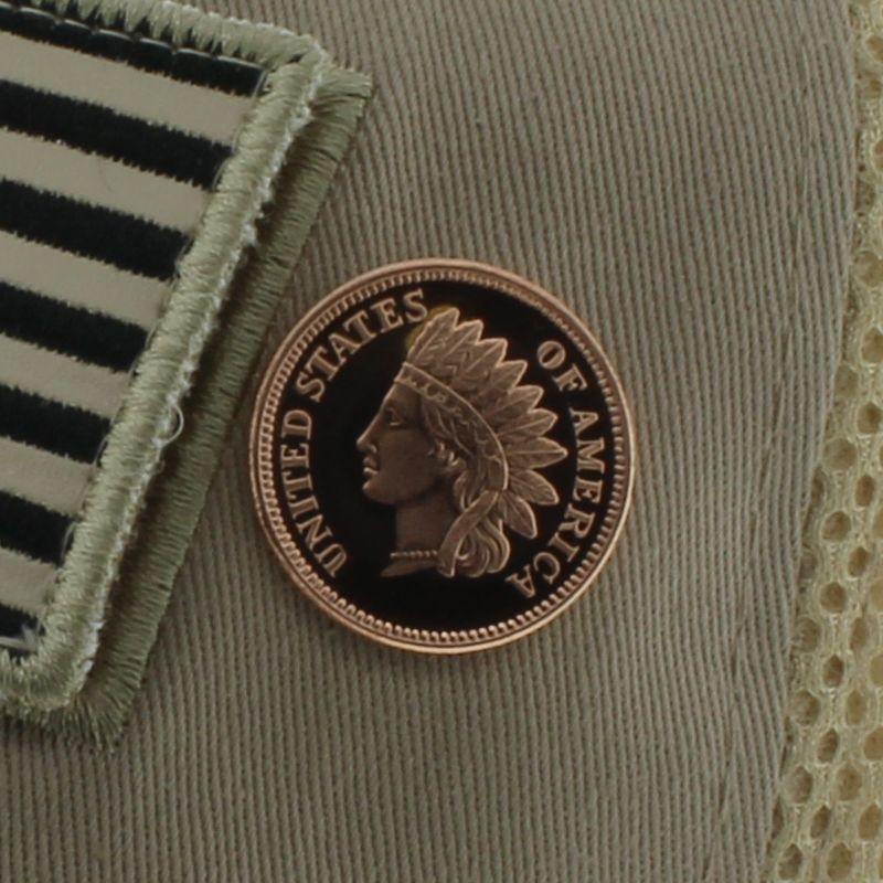 Indian Head Cent Design .999 Pure Copper 1/4 Oz. Pin By Barter Wear