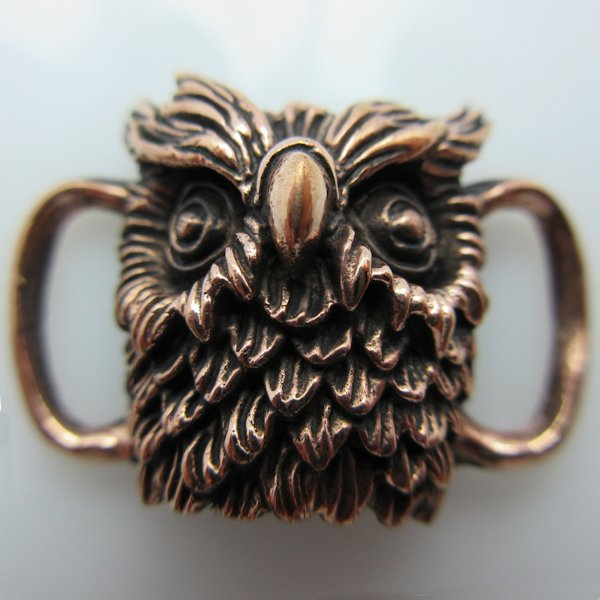 Owl Boot / Bracelet Bead in Copper by Santi-Se
