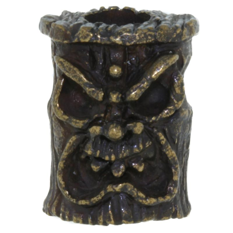 Ona Tiki Bead in Solid Oil Rubbed Bronze by Schmuckatelli Co.