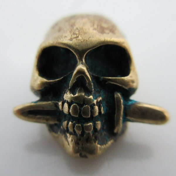 Totenkopf in Bronze By Sirin