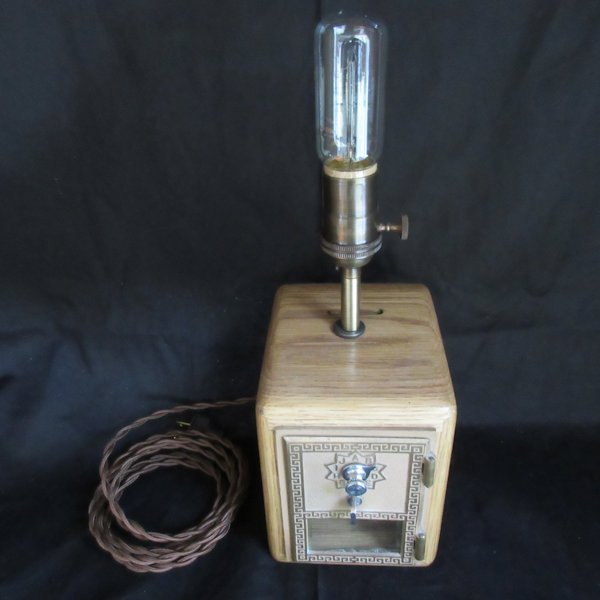Post Office Box Bank Edison Table Lamp #3