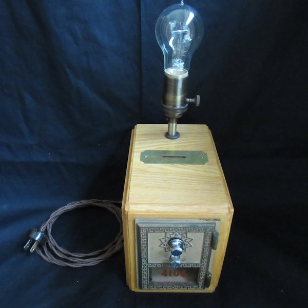 Post Office Box Bank Edison Table Lamp #8