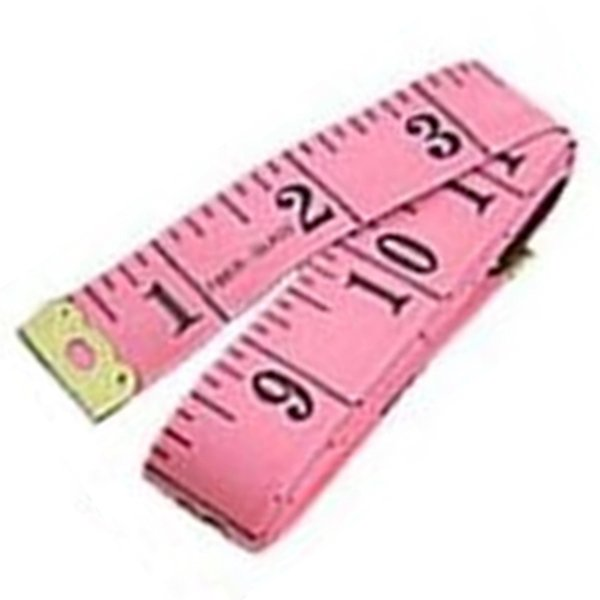 "60"" Soft Flexible Non-Stretching Measuring Tape Ruler (Pink/Black)"