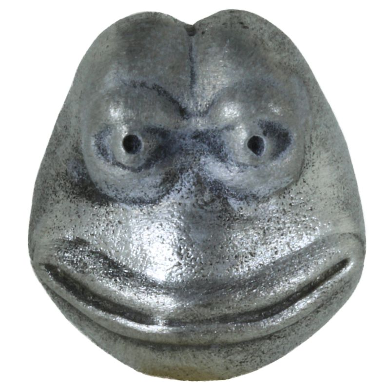 Pepe Frog Bead in Pewter by Marco Magallona