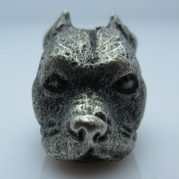 Pitbull Bead in Pewter by Marco Magallona