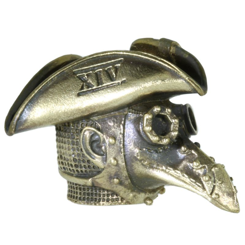 Plague Doctor Mask XIV In Brass By Techno Silver