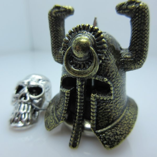 Riddle Of Steel Helmet With Thulsa Skull Bronze/Silver By Bad Azz Beads