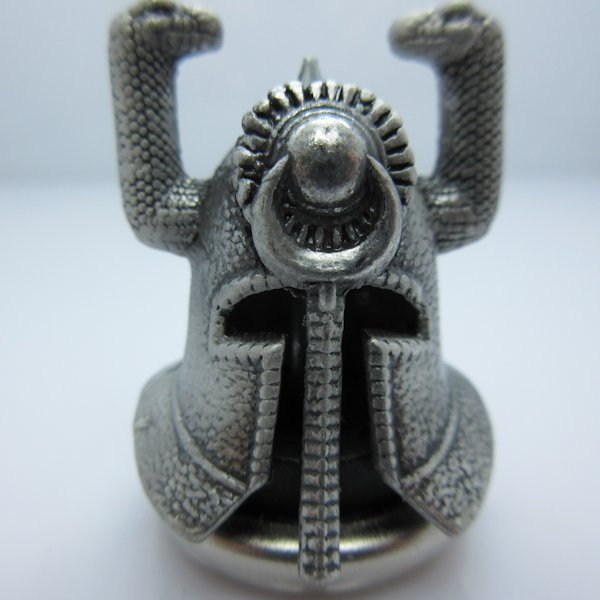 Riddle Of Steel Helmet In Silver Finish By Bad Azz Beads