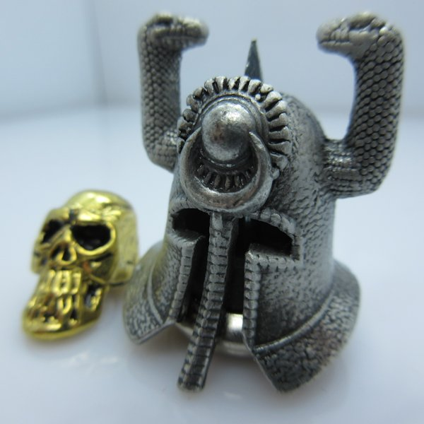 Riddle Of Steel With Thulsa Skull Silver/Gold By Bad Azz Beads