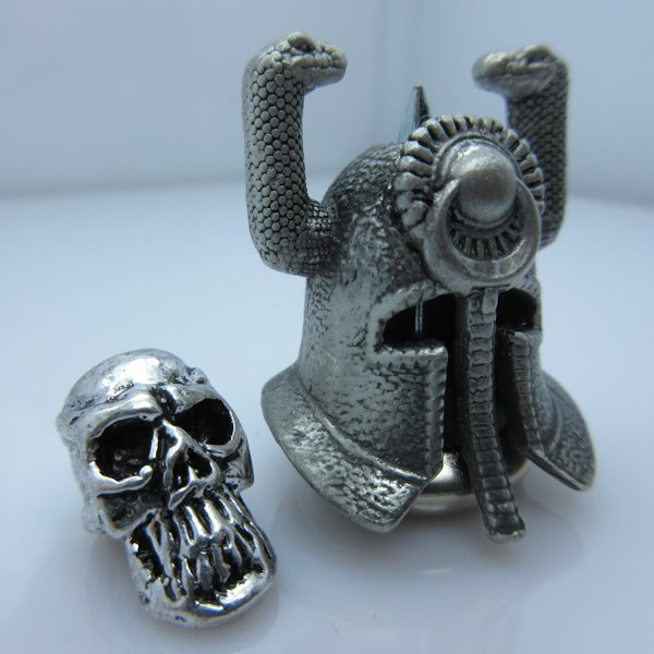 Riddle Of Steel Helmet With Thulsa Skull Silver/Silver By Bad Azz Beads