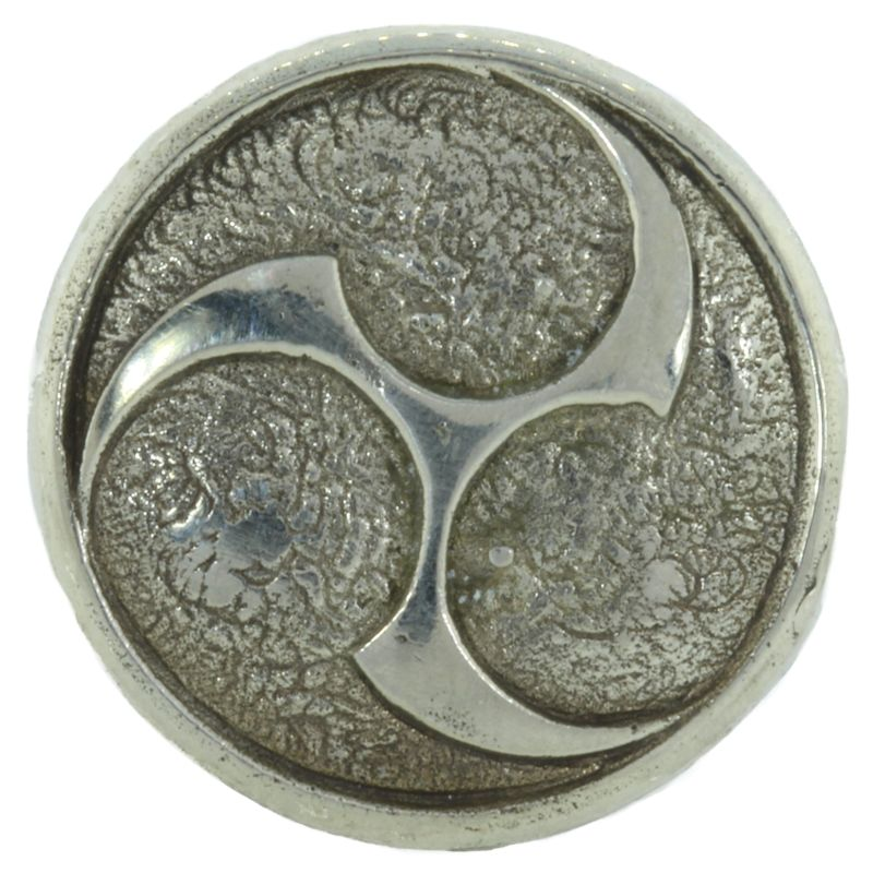 Raijin Shield Cord Button in White Brass by Covenant Everyday Gear