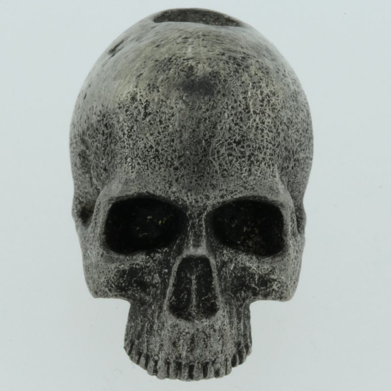 Realistic Skull Bead in Pewter by Marco Magallona
