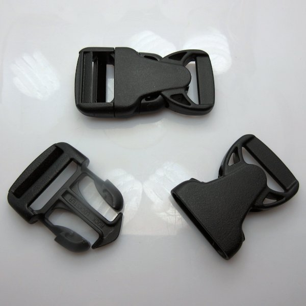"1"" Rock Lockster Brand Black Side Release Buckles"