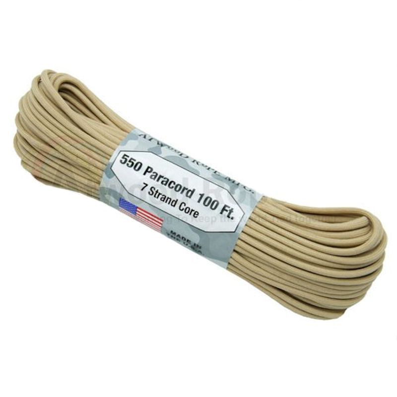 Tan 550# Type III Paracord 100' S10