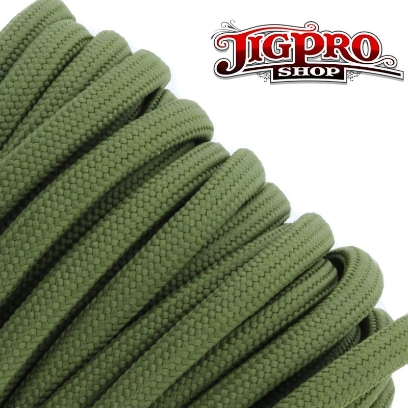 Olive Drab 550# Type III Paracord 100\' S14
