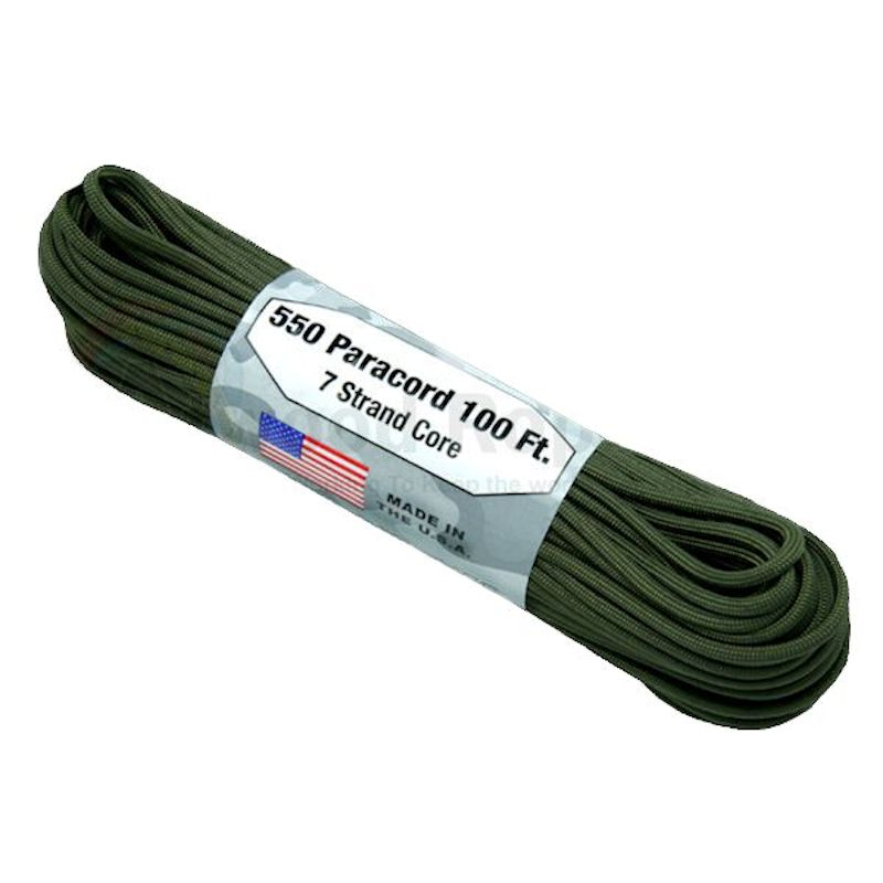 Olive Drab 550# Type III Paracord 100' S14
