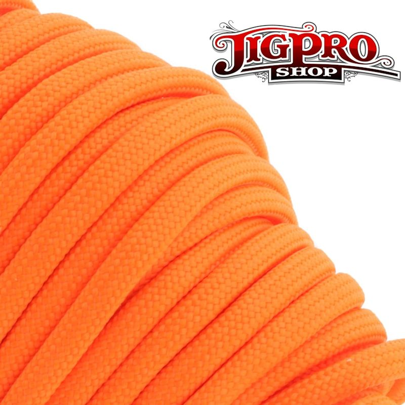 Neon Orange 550# Type III Paracord 100' S17