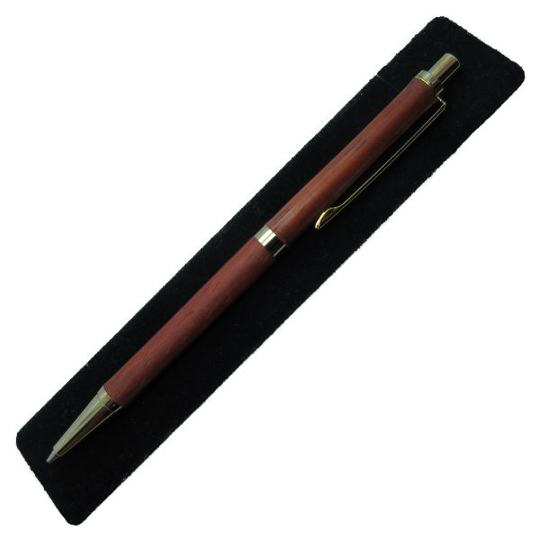 Slimline Pencil in (Padauk) 24kt Gold