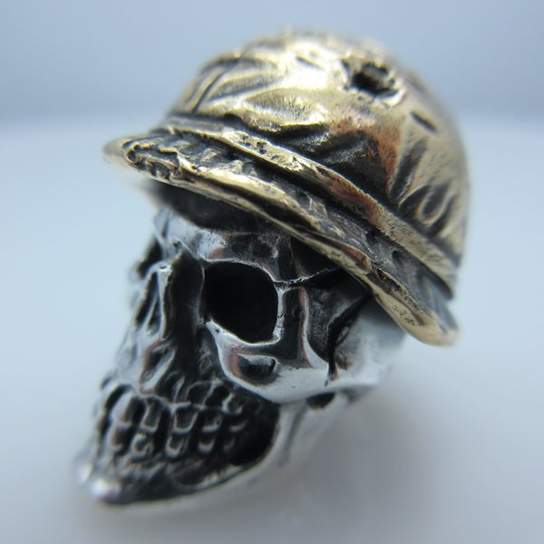 Soldier Helmet #2 in .925 Sterling Silver and Bronze by GD Skulls