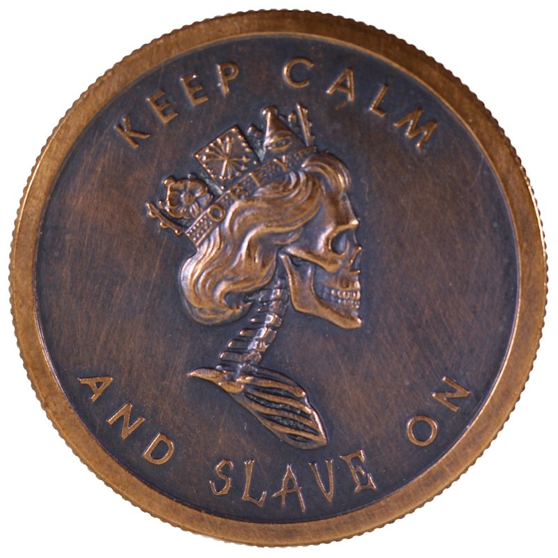 Freedom Girl / Slave Queen Double Sided (2014 Silver Shield) 1 oz .999 Pure Copper Round (Black Patina)
