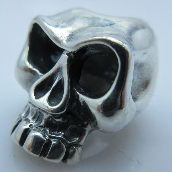 Jawless Skull #2 (Large Eyes) in .925 Sterling Silver by GD Skulls