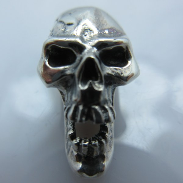 Screaming Skull in .925 Sterling Silver by GD Skulls